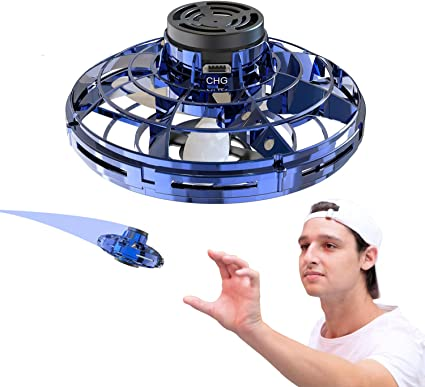 WETONG FlyNova Flying Spinner Toy Hand Operated Drones for Kids and Adults Adult Gift for Surprises and Fun Scoot Hands Free Mini Drone Helicopter with 360/°Rotating and Shinning LED Lights