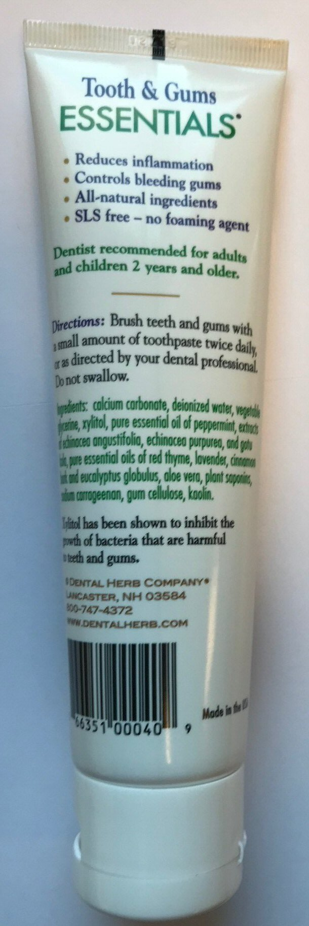 Dental Herb Company Tooth & Gums NEW Essentials Toothpaste
