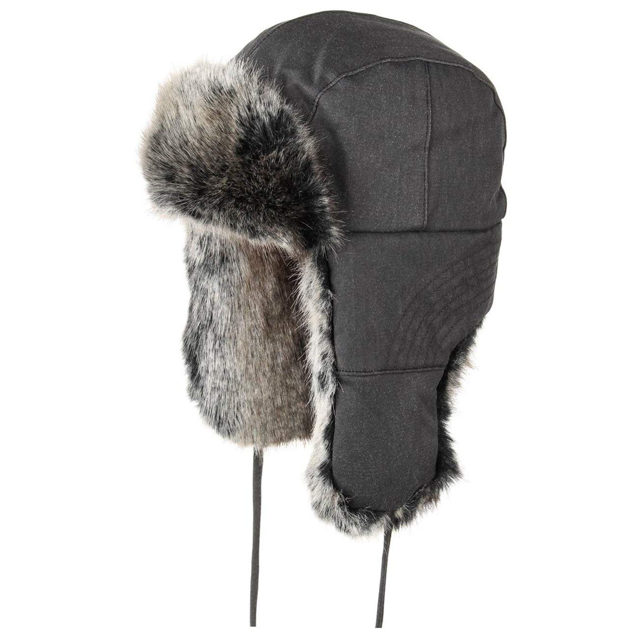 Stetson Standish Old Cotton Fliegermütze für Damen und Herren Winterlapeer Wintermütze Ohrenmütze mit Futter, Futter Herbst Winter 6723_21502