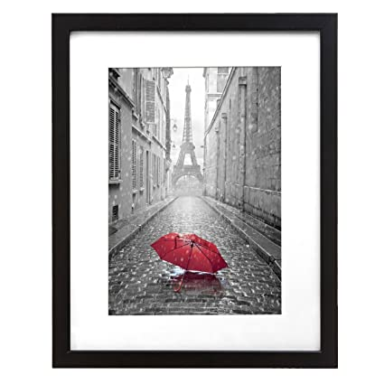 Amazon.com: 9x12-inch Black Frame - Made to Display Pictures 6x8 ...