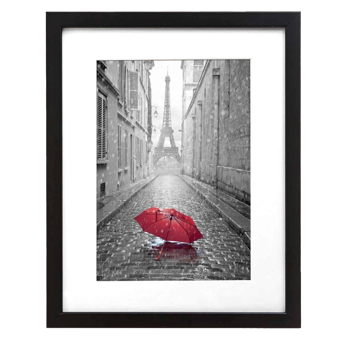 9x12-inch Black Frame - Made to Display Pictures 6x8-inches with Matte or 9x12-inches Without Matte - Camera Photography Frame