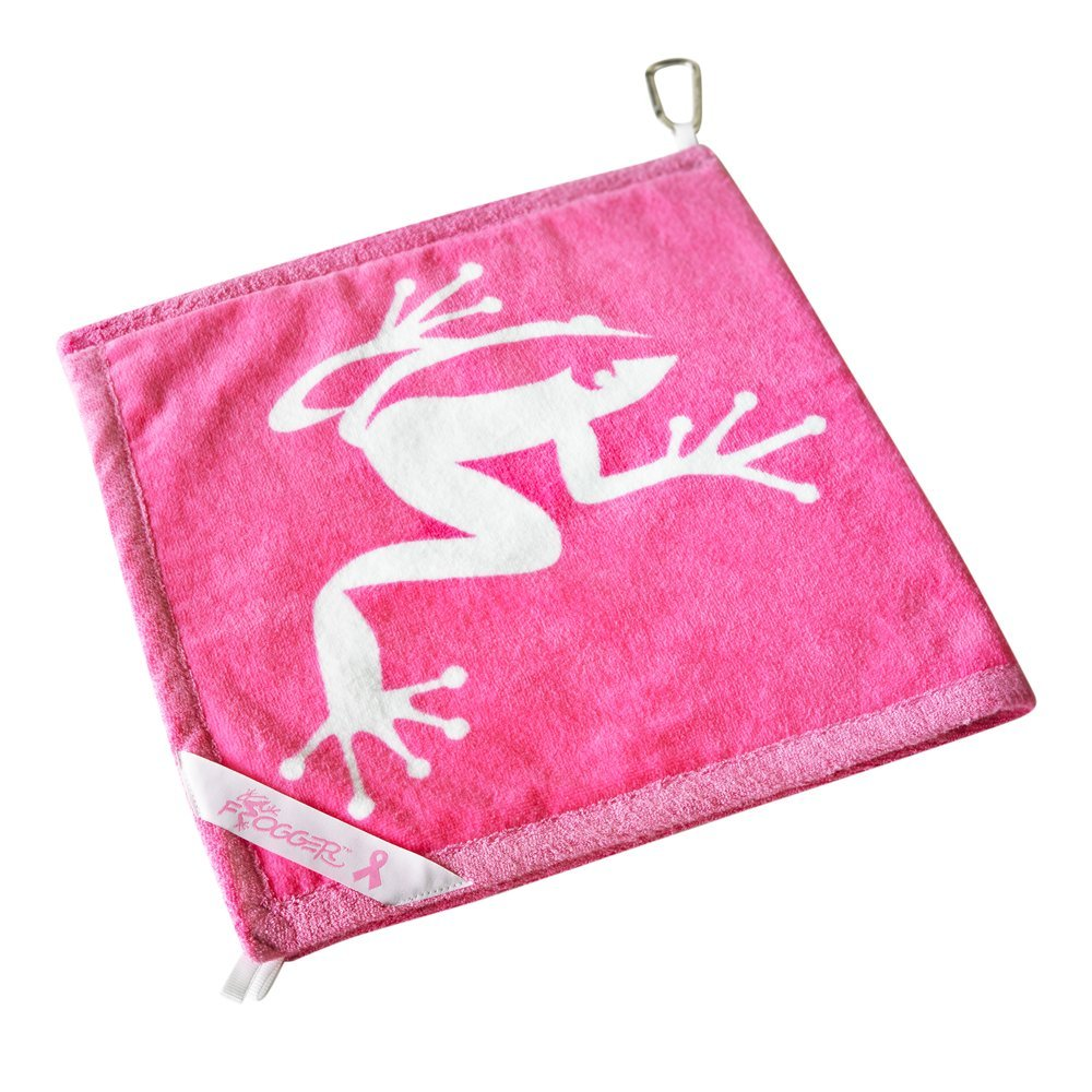 Frogger Golf Amphibian Wet/Dry Golf Towel, Pink by Frogger