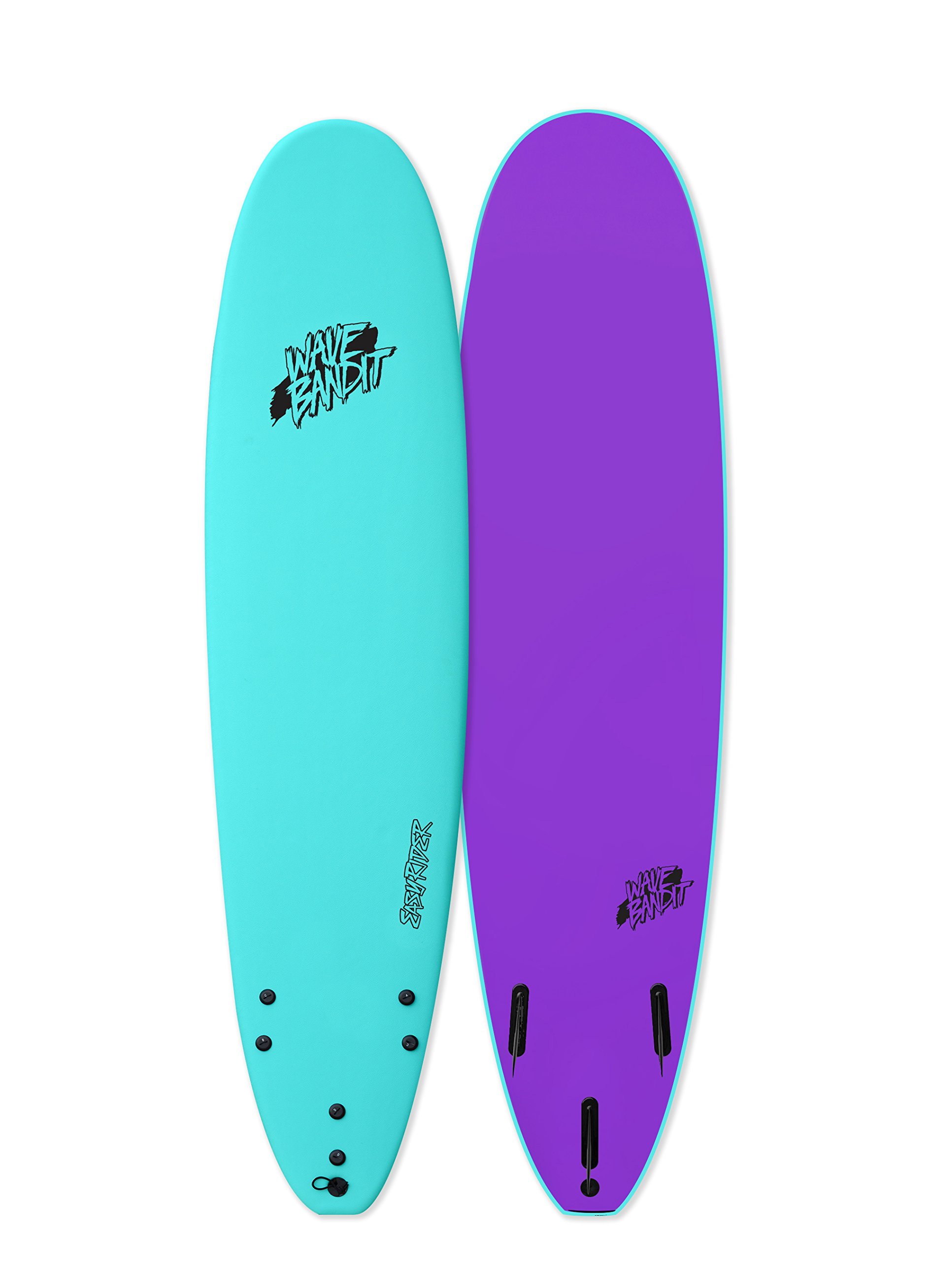 Wave Bandit EZ Rider Surfboard, Turquoise, 8' by Wave Bandit