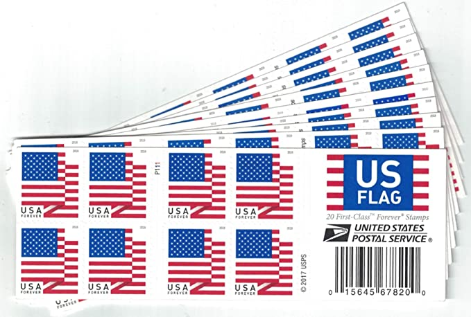 Amazon USPS Forever Stamps US Flag Book Of 20