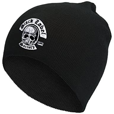 df29e3b6c5ee9 Black Label Society - Skull   Maple Leaf Beanie Black  Amazon.co.uk ...