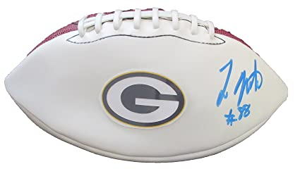 804d4ef3e Ty Montgomery Autographed Green Bay Packers Logo Football W PROOF ...