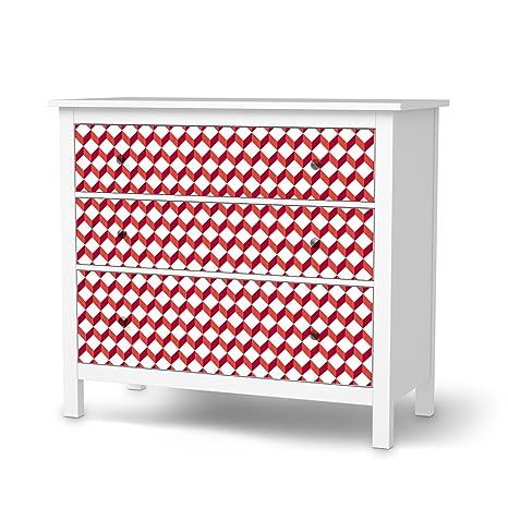 Hemnes Cassettiera 5 Cassetti.Cassettiera 3 Cassetti Pellicola Ikea Hemnes Design Adesivi 3d Cubes