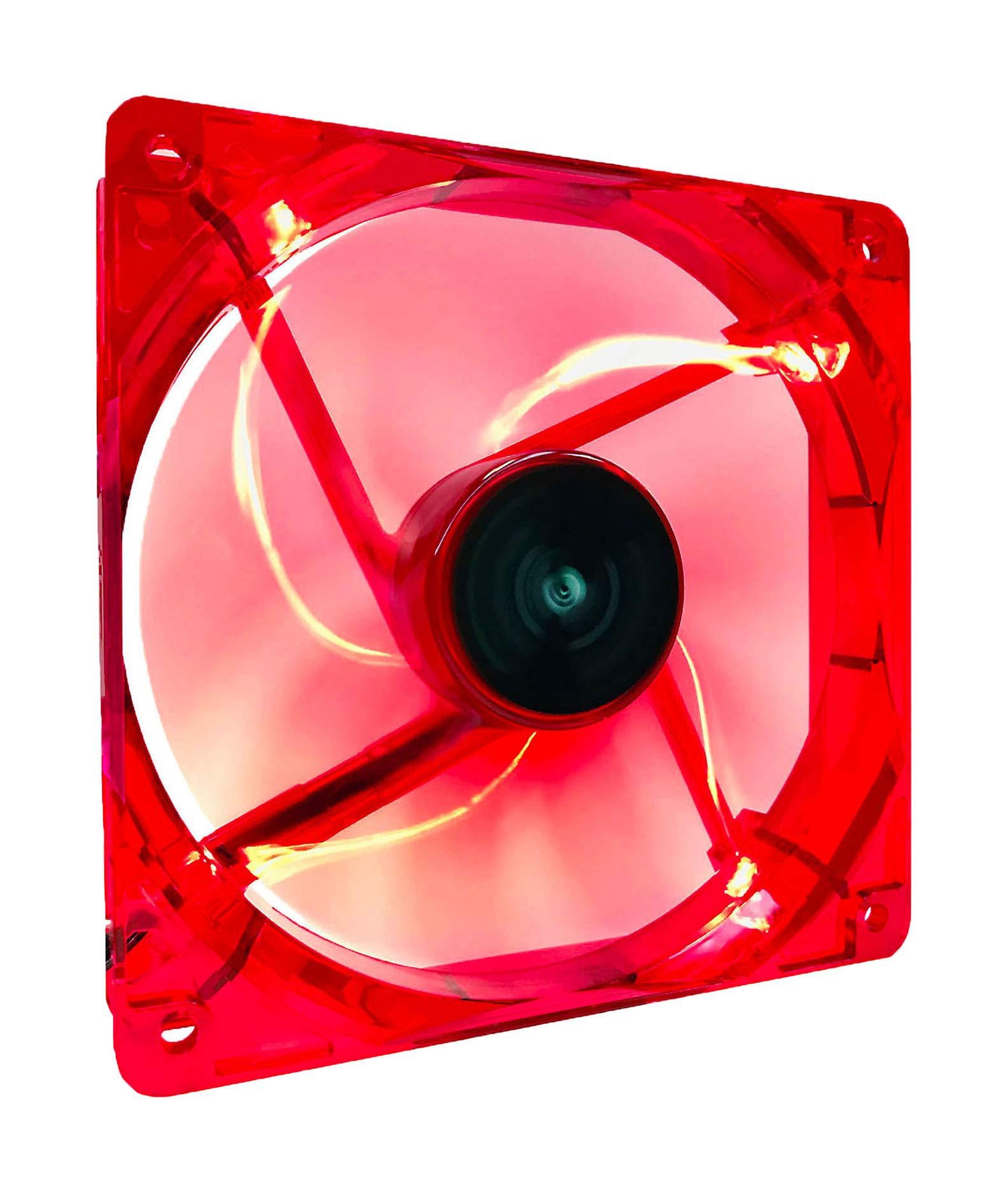Fan Cooler Apevia 14sl-rd 140mm 4pin+3pin Silent Red Led Fan