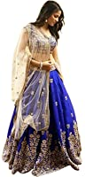 Lengha Choli for women new arrival western party wear semistitched Blue lehenga choli by Queen of India