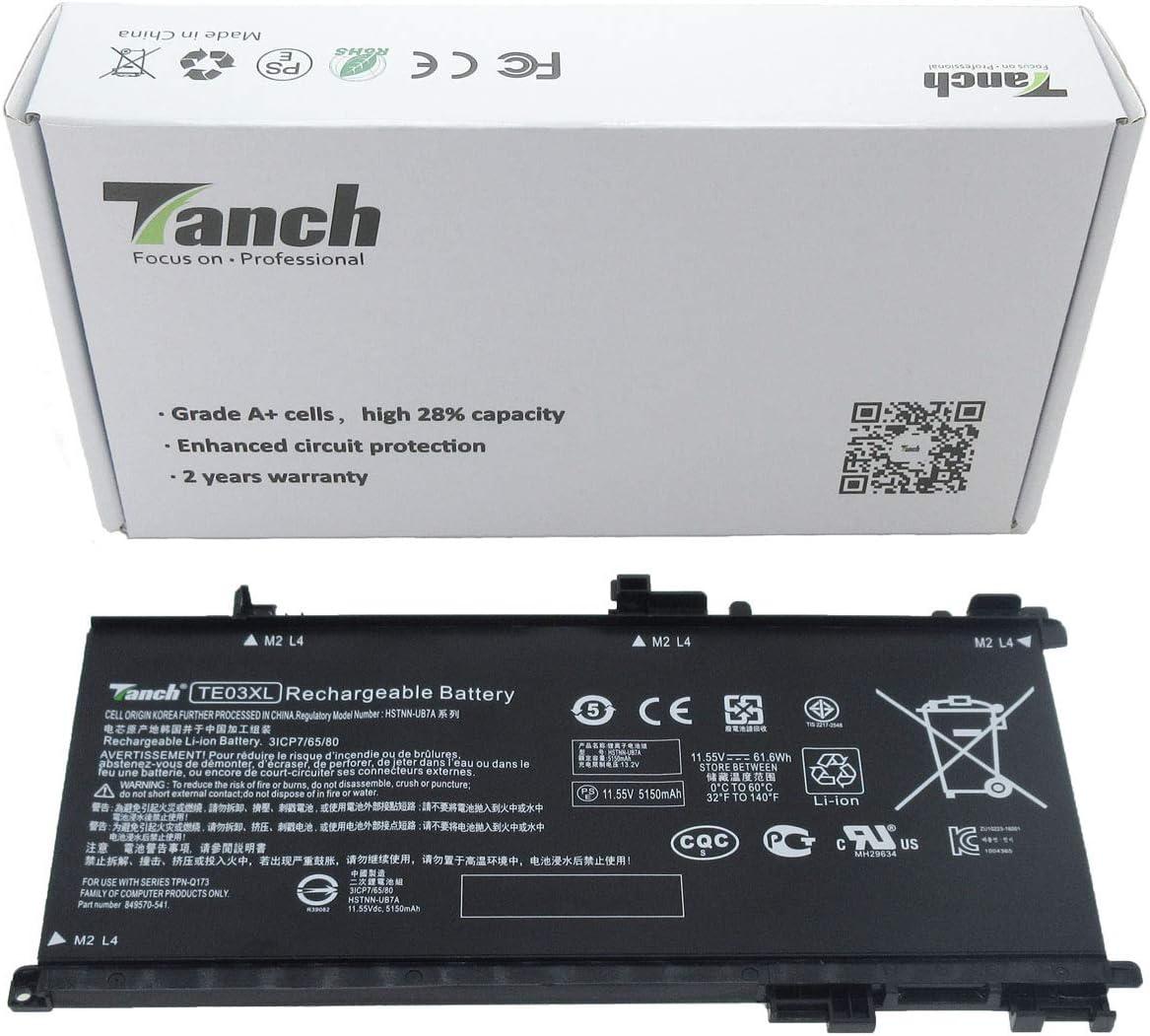 Batería del Ordenador portátil para TE03XL 849570-541 HP Omen 15 ...
