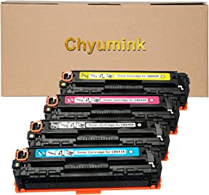 Chyumink Remanufactured for HP 125A CB540A CB541A CB542A CB543A Compatible Toner Cartridges use with Color Laserjat CP1210 CP1215 CP1510 CP1515 CP1518 CP1525n CP1525nw CM1415fnw