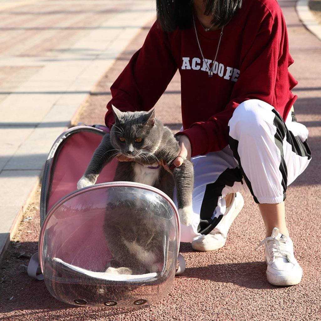 Bolsa de Viaje para Loros de Mascotas liaobeiotry Mochila Transparente Transpirable 360/° para Mascotas