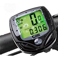 Pagacat Bicycle Speedometer Waterproof Wired English Speed Odometer with Backlight Odometers
