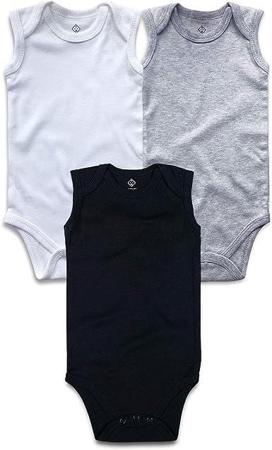 OPAWO Unisex Baby Bodysuits Short Sleeve Pack of 3 0-24 Months