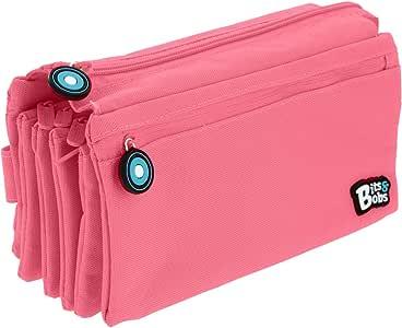 Grafoplás37543353. Estuche Cuatro Compartimentos, Rosa Pastel, 23x12cm, Bits & Bobs: Amazon.es: Oficina y papelería