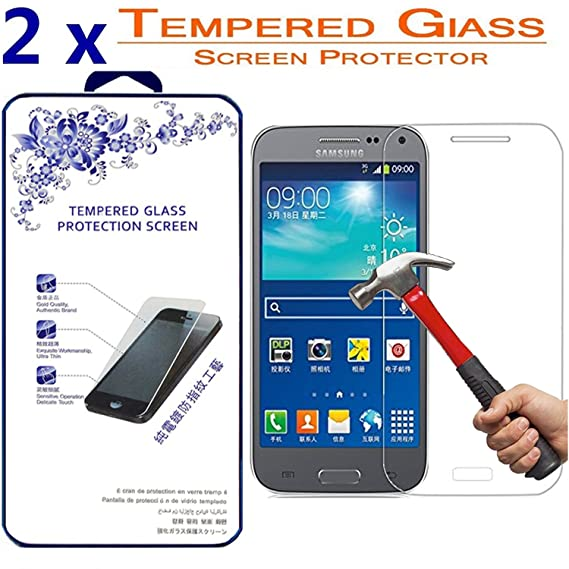 2X G3858 Tempered Glassfor Samsung Galaxy Beam 2 G38582 Pack