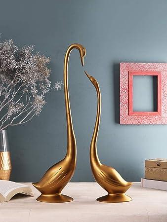Sammsara Aluminium Daffy Mini Swan Set Standard Gold 2 Piece Amazon In Home Kitchen