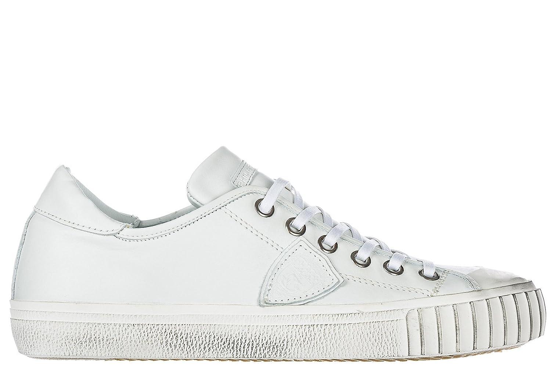 Philippe Model Herrenschuhe Herren Leder Schuhe Sneakers Gare Weiszlig;  42 EU