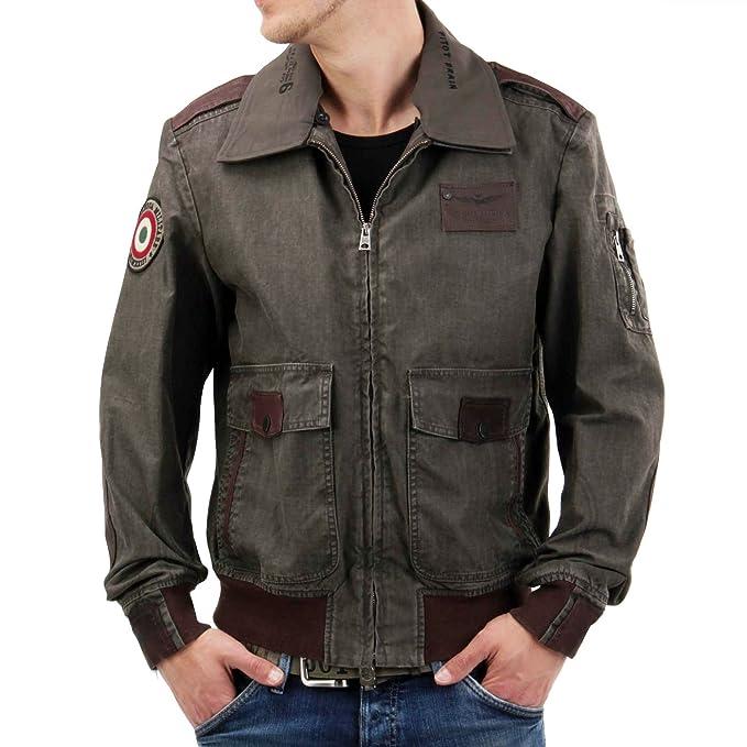 Aeronautica Militare - Chaqueta - para hombre marrón medium: Amazon.es: Ropa y accesorios
