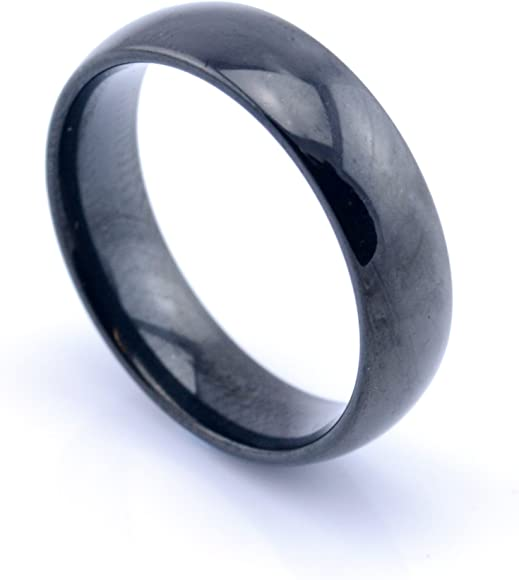 Perfect Jewelry Gift Titanium Black Multi-colored Annodized 6mm Polished Band
