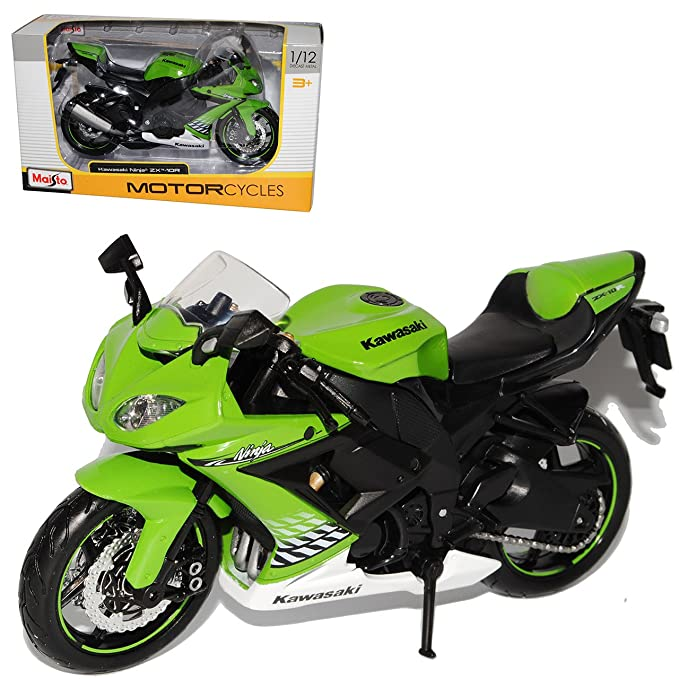 Maisto Kawasaki ZX-10R Ninja Grün Weiss 1/12 Motocicleta mit ...