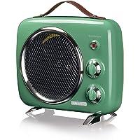 Ariete 808 Vintage fanlı ısıtıcı, soğuk ve sıcak, ayarlanabilir termostat, taşıma sapı, 2000 W, yeşil