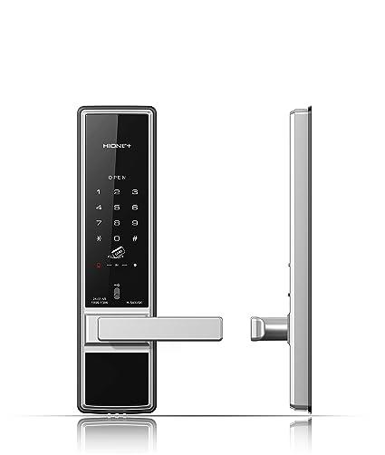 HionePlus cerradura de la puerta digital, tarjeta + pin + llave de emergencia