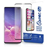 Ozone Samsung Galaxy S10 Plus Tempered Glass Protector Shock Proof Case Friendly Screen Protector - Black