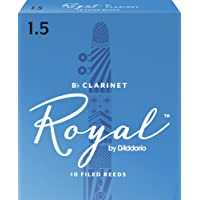 Royal by D'Addario Rico 1.5 Strength Reeds for Bb Clarinet (Pack of 10)