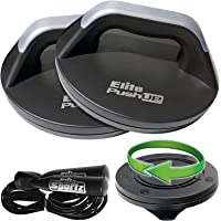 Elite Sportz Push Up Bars - The Smooth Rotation Makes a Pushup on The Hands, Meaning You Will Feel Less Wrist Pain Than…