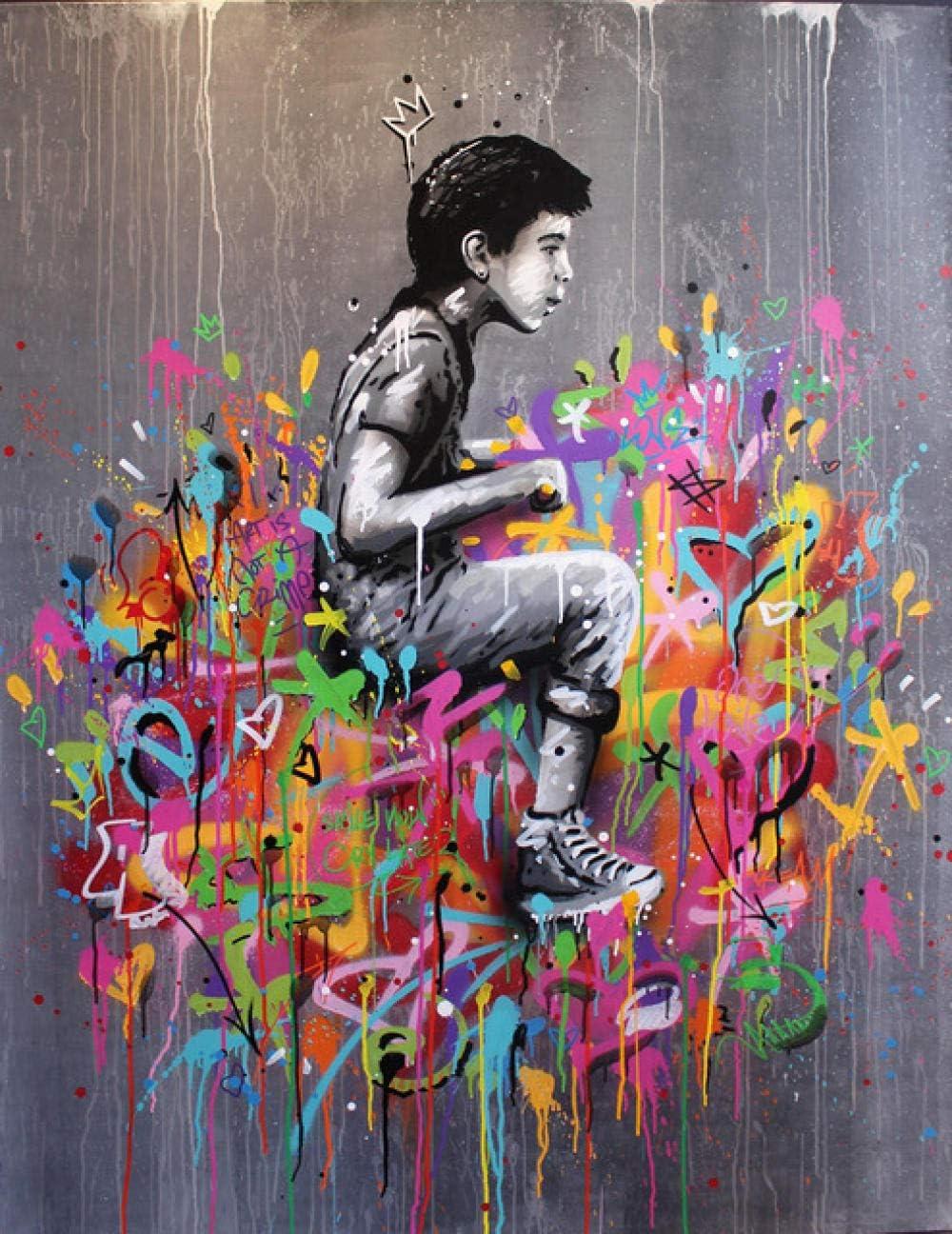 Flduod Retrato Imagen Lienzo Pintura Personaje Pared Arte Graffiti decoración del hogar Abstracto Mujer Imagen Arte Cartel e impresión-40x60cm