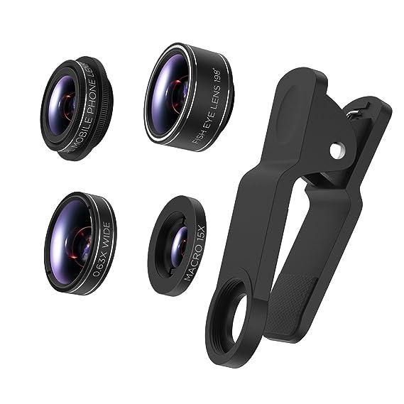 8f2e67ff706 Amazon.com: TURATA iPhone Lens 4 in 1 Lens Kits, 198°Fish Eye + 0.63 ...