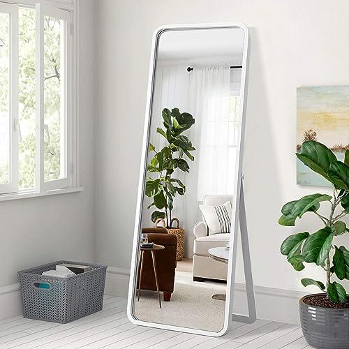 Trvone Full Length Dressing Mirror Wood Floor Mirror Solid Wood Frame Mirror