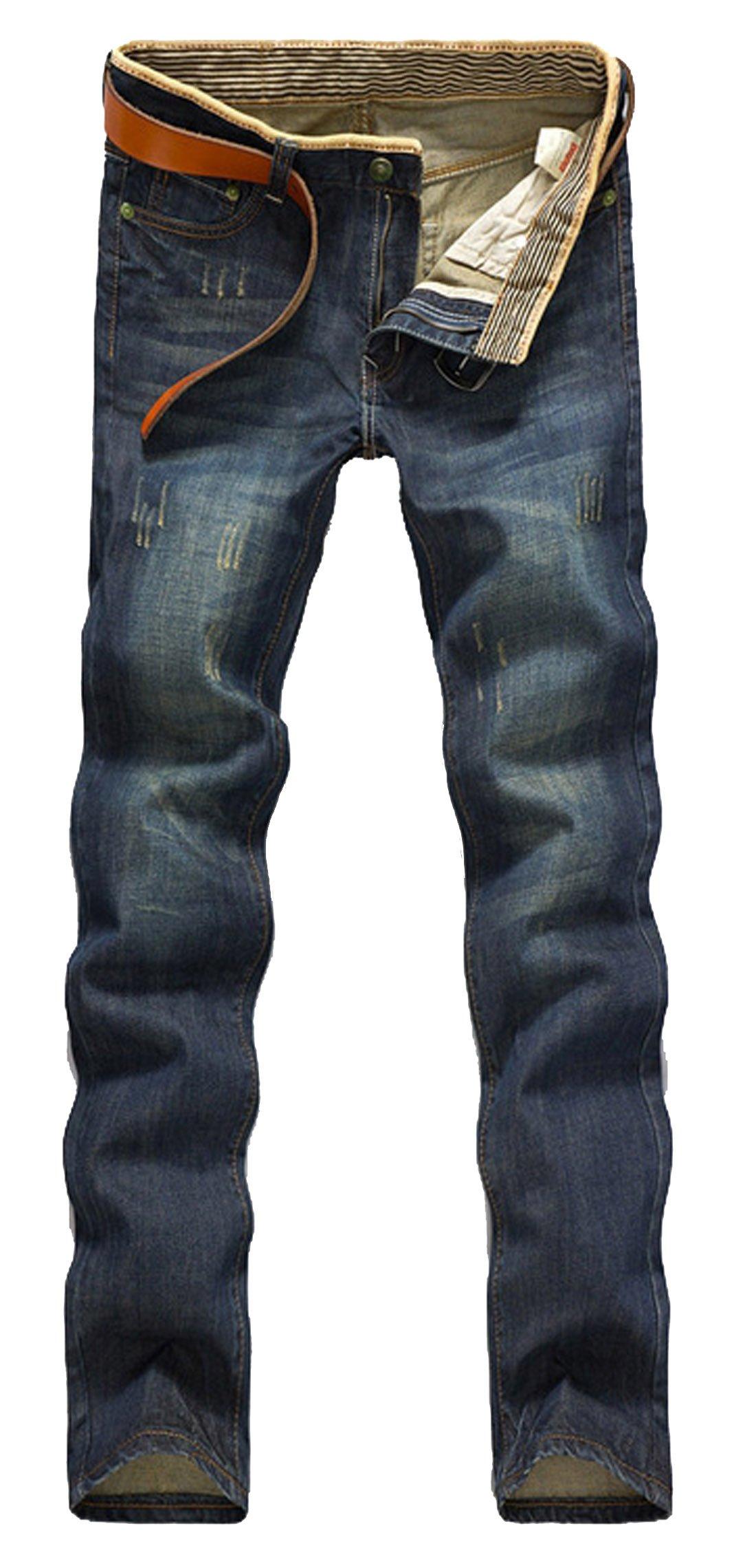 OCCUPY Maxhoc Men's Stylish Slim Fit Straight Leg Jeans Trousers (32)