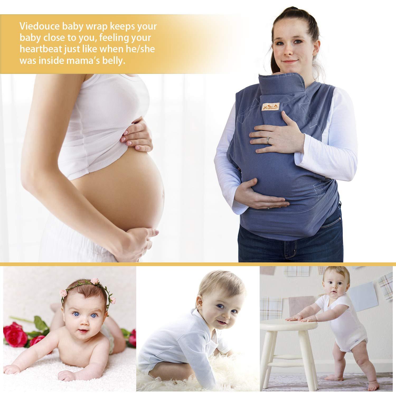 Kleinkinder von 3-36 Monaten Viedouce Babytrage Ergonomische,Baumwolle Babytragetuch Color-01 Leicht atmungsaktiv Babybauchtrage Geeignet f/ür Neugeborene