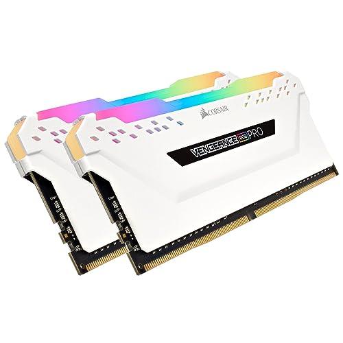 Corsair Vengeance RGB Pro Kit de Memoria Entusiasta 32 GB 4 x 8 GB DDR4 3000 MHz C15 XMP 2 0 Iluminación LED RGB Blanco