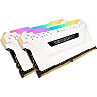 Corsair Vengeance RGB PRO 32GB (2 x 16GB) PC4-25600 3200MHz DDR4 288-Pin DIMM Desktop Memory (CMW32GX4M2C3200C16W)