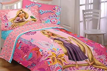Tangled Letting Down My Hair Rapunzel Full Bedding Set Amazonco