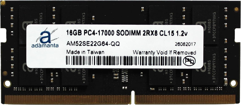 Adamanta 16GB (1x16GB) Laptop Memory Upgrade Compatible for Lenovo Flex 4, Ideapad, Thinkpad, Yoga DDR4 2133Mhz PC4-17000 SODIMM 2Rx8 CL15 1.2v RAM DRAM