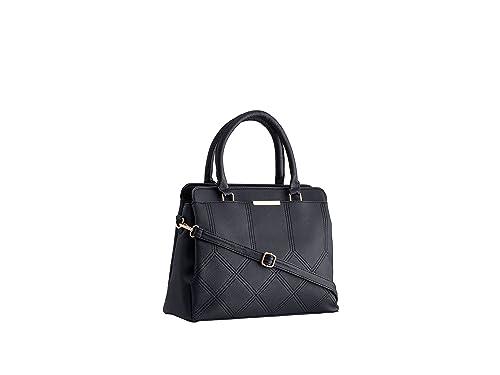 3e5c300d9de19 Legal Bribe Women's PU Handheld Bag (Black): Amazon.in: Shoes & Handbags