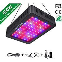 Growstar 600W LED Grow Light LED Grow Lamp Full Spectrum for Hydroponic Indoor Plants Veg and Flower with UV IR Daisy Chain