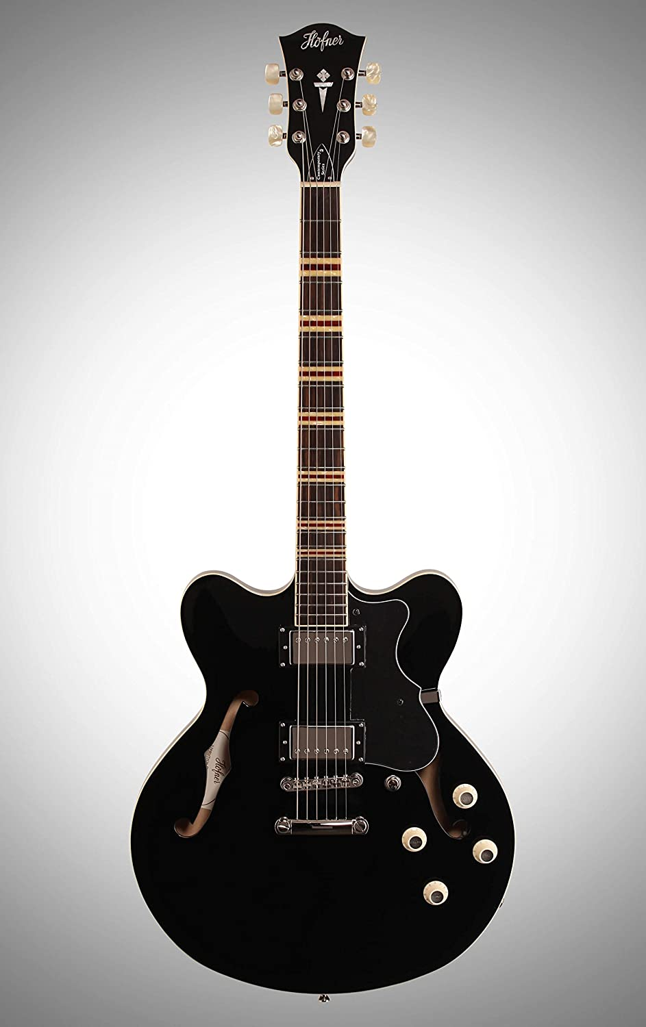 Hofner HCT Verythin - Guitarra, color negro: Amazon.es ...