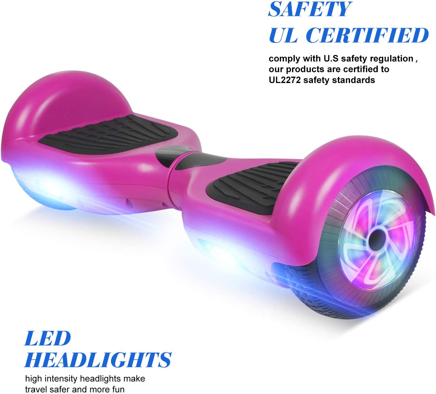 FLYING-ANT Hoverboard, 6.5 Inch Self Balancing Hoverboards F-Purple - 2