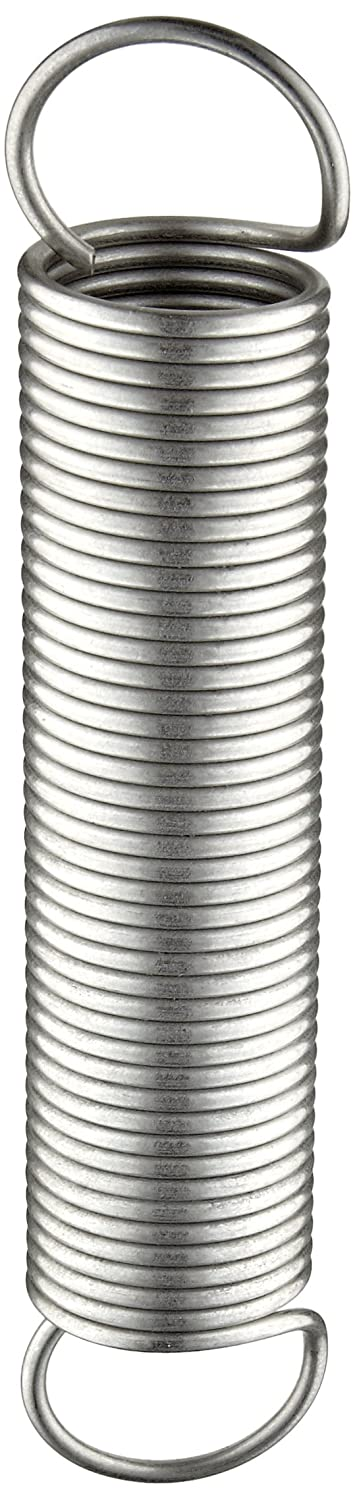 Extension Spring 5 lbs//in Spring Rate 10.73 Extended Length 0.105 Wire Size 302 Stainless Steel Inch Pack of 10 1.125 OD 0.105 Wire Size 5 Free Length 10.73 Extended Length E11251055000S 5 Free Length 31.49 lbs Load Capacity 1.125 OD