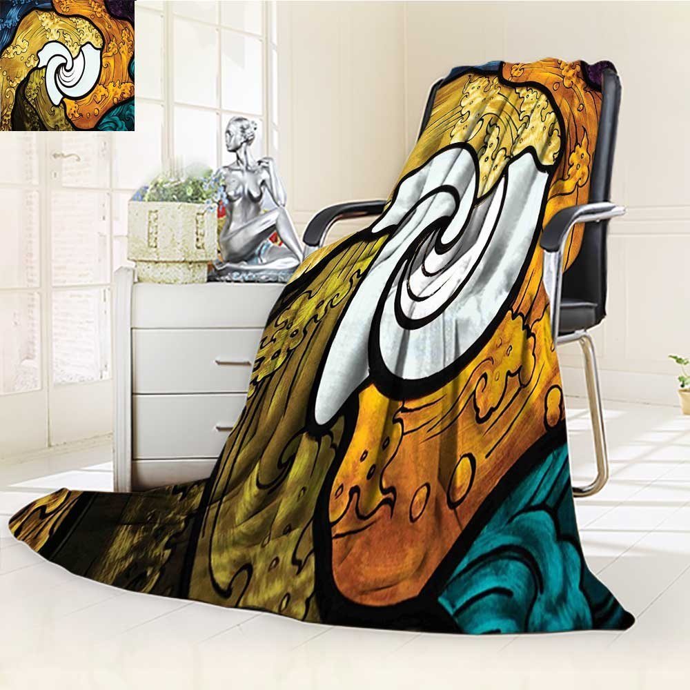 AmaPark Digital Printing Blanket Pop Art Style Funky Unusual Stained Glass Window Thai Art Summer Quilt Comforter by AmaPark