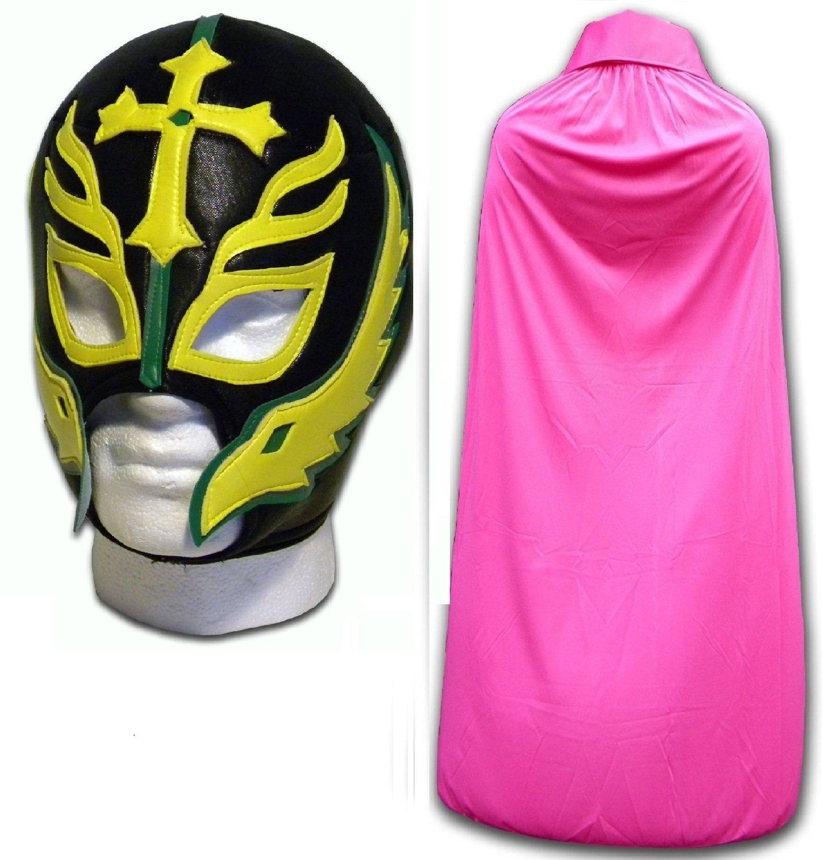 WRESTLING MASKS UK Men's Son Of The Devil Caribe Luchador Mask With Cape One Size Pink