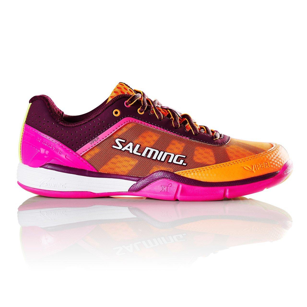 Salming Viper 4 Women's Indoor Court Shoe Purple/Orange (10)