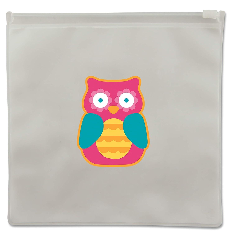 Stephen Joseph Owl Reusable Snack Bag, Multicolor SJ103176A
