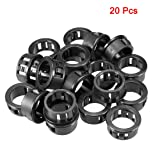 uxcell 20pcs 20mm Mounted Dia Cable Hose Snap