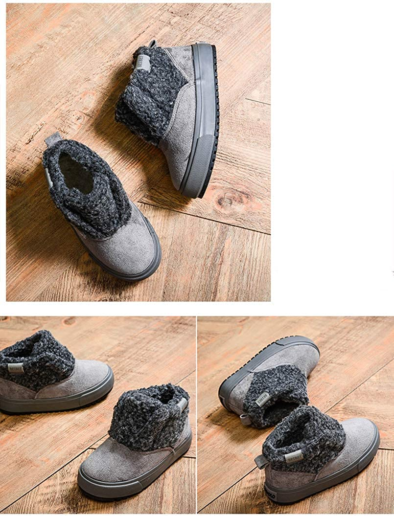 Toddler//Little Kid//Big Kid iDuoDuo Boy Girl Ankle Cuff Athletic Snow Boots Cold Weather Plush Sneakers